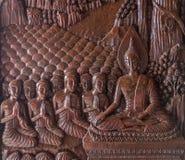 Image de Bouddha découpée d'un en bois Image stock