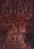 Image de Bouddha découpée d'un en bois Images libres de droits