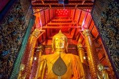 Image de Bouddha dans le temple de Wat Phanan Choeng photos libres de droits