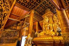 Image de Bouddha dans le temple du nord de la Thaïlande Photo libre de droits