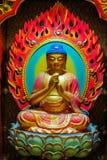 Image de Bouddha qui est découpée du bois photo stock