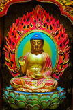 Image de Bouddha qui est découpée du bois Images stock