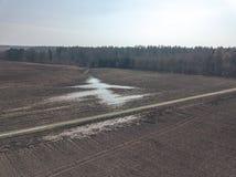 image de bourdon la vue aérienne de l'agriculture cultivée humide met en place le Ne Images stock