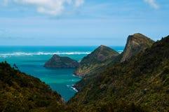 Côte de Tasman près d'Auckland, Nouvelle Zélande Images stock