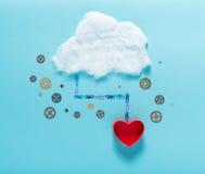 Image de calcul de concept de nuage Photo stock