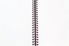 Carnet de livre blanc à l'intérieur Photos libres de droits