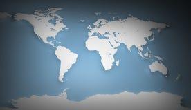 Image de carte du monde images libres de droits