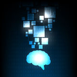 Image de cerveau qui représente l'intellect Image libre de droits