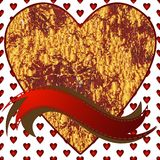 Image de coeur sur un fond de coeurs Image stock