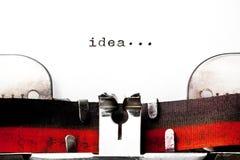 Image de concept avec l'idée de mot imprimée images libres de droits