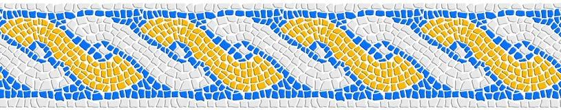 Image de concept de bannière de Web inspirée par la forme des mosaïques romaines dans en céramique ou de la pierre avec graphique photos stock