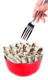 Image de concept d'argent de nourriture Image libre de droits