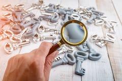 Image de concept d'une inspection de clés Image libre de droits
