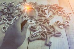 Image de concept d'une inspection de clés Images stock