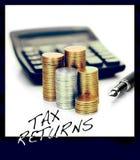 Image de concept de déclarations d'impôt photographie stock