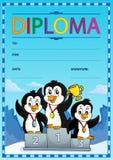 Image 7 de conception de diplôme illustration stock