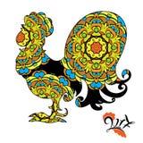 Image de coq, symbole de 2017 sur le calendrier chinois illustration stock