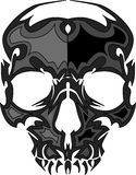 Image de crâne avec le vecteur de flammes Image stock