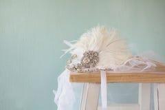 Image de décoration gatsby de tête de diamant de style Photos stock