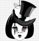 Image de dame dans le chapeau noir Images libres de droits