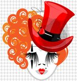 image de dame dans le chapeau rouge Images libres de droits