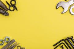 Image de DIY Beaucoup d'outils Photographie stock libre de droits