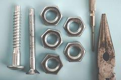 Image de DIY Beaucoup d'outils Image stock
