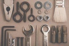 Image de DIY Beaucoup d'outils Photographie stock