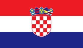 Image de drapeau de la Croatie illustration libre de droits