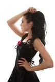 Image de femme avec les enroulements parfaits Images stock