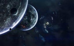 Image de fiction de la science de l'espace Éléments de cette image meublés par la NASA photo stock