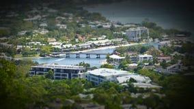 Image de film aérienne miniature de rivière de Noosa image stock