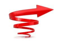 Image de flèche en spirale Image stock