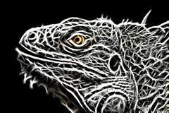 Image de fractale d'un lézard d'iguane illustration de vecteur