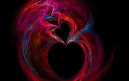 Image de fractale de coeurs d'arc-en-ciel Photos libres de droits