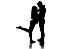 Image de garçon et de fille affectueux Images stock