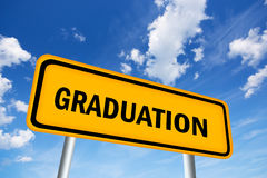 Obtention du diplôme Photo stock