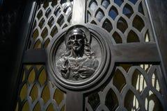 Image de Jesus Christ sur une tombe photographie stock libre de droits