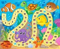 Image de jeu de société avec le thème sous-marin 1 Images libres de droits
