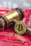 Image de juge de loi de concept pour le cryptocurrency image stock