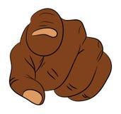 Image de l'homme de couleur de bande dessinée, geste de main humain de nègre se dirigeant à vous Illustration de vecteur d'isolem illustration de vecteur