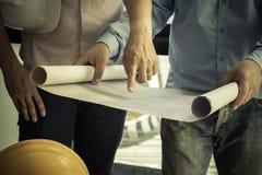 Image de l'ingénieur architectural de projet photos libres de droits