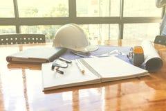 Image de l'ingénieur architectural de projet images stock