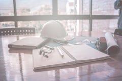 Image de l'ingénieur architectural de projet photos stock