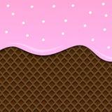Image de la crême glacée Background Vecteur Chocolat rose Illustration Stock