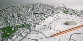 Image de la planification d'architecture sur le papier Photo libre de droits
