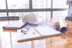 Image de la réunion d'ingénieur pour architectural image libre de droits