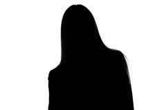 Image de la silhouette de la femme se penchant juste Photo libre de droits