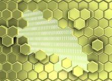 Image de la technologie numérique d'or illustration libre de droits