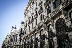 Image de la ville de Madrid, son architecture caractéristique Photographie stock libre de droits